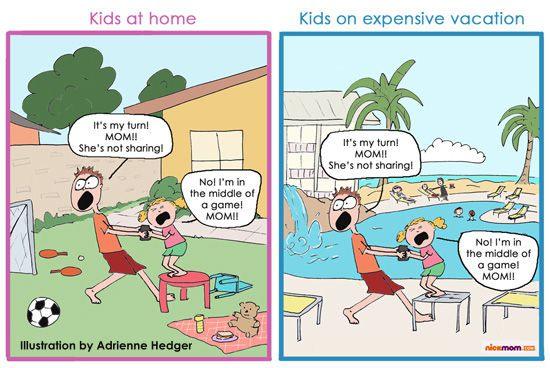 kids on vacation